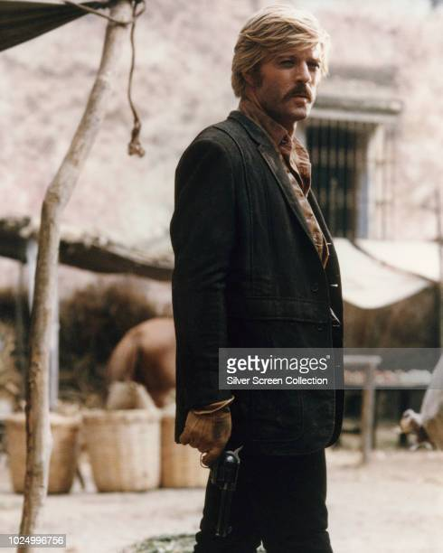 American actor Robert Redford as The Sundance Kid in the western film 'Butch Cassidy and the Sundance Kid' 1969