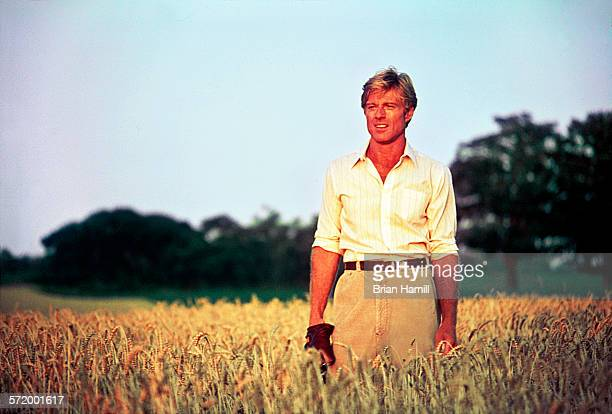 American actor Robert Redford on location for the film 'The Natural' 1984