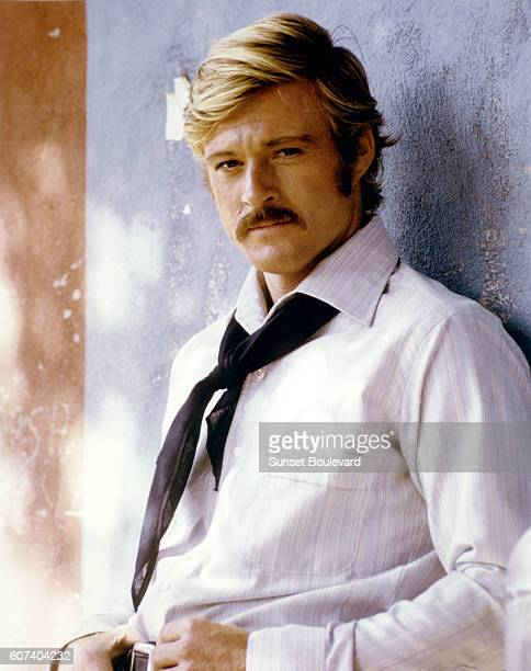 American actor Robert Redford on the set of Butch Cassidy and the Sundance Kid directed by George Roy Hill