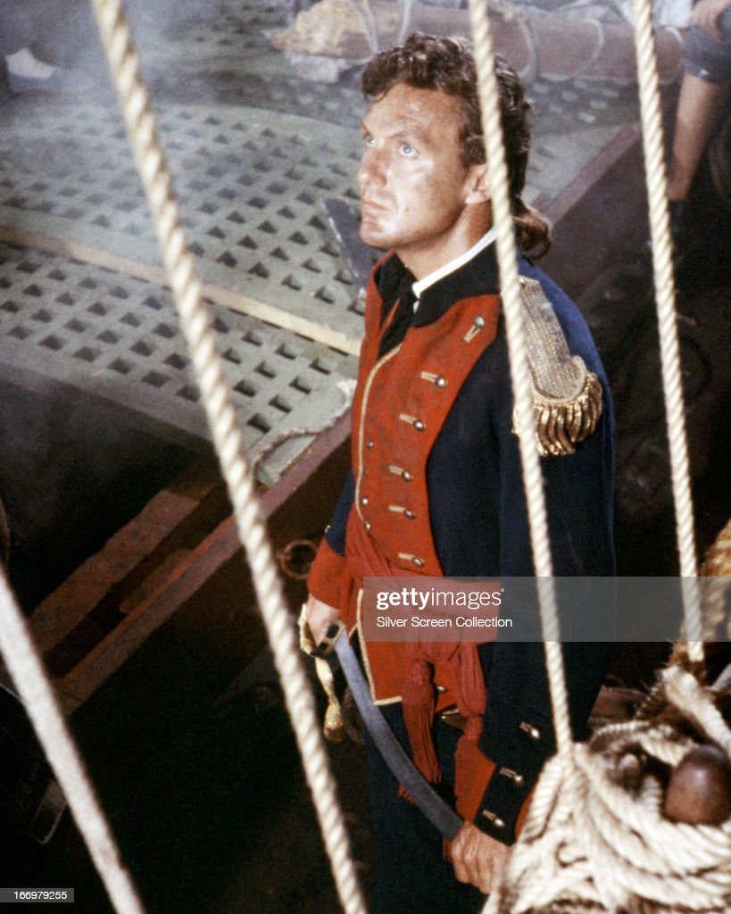 American actor Robert Stack (1919 - 2003) in the title role of 'John Paul Jones', directed by John Farrow, 1959.
