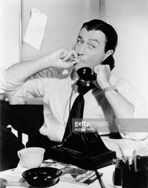 American actor Robert Taylor as Captain Matt Holbrook in a scene from the television series 'The Detectives' circa 1960