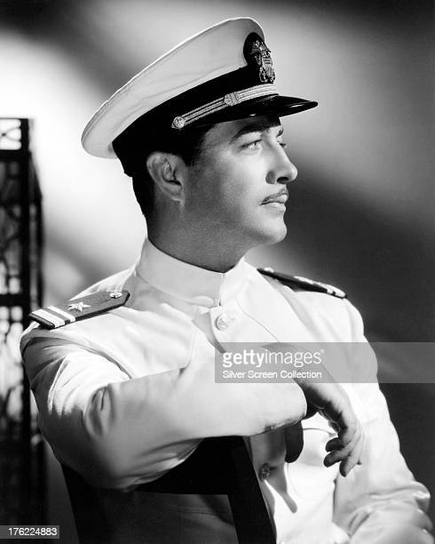 American actor Robert Taylor in military uniform circa 1940