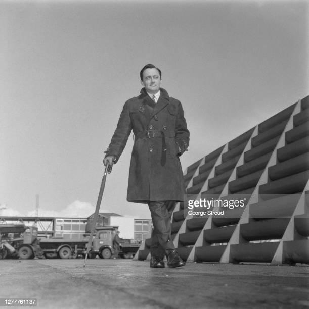 American actor Robert Vaughn at London Airport, UK, 28th March 1966.