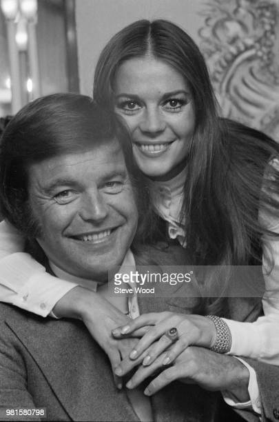 American actor Robert Wagner pictured with his former wife actress Natalie Wood on 24th April 1972