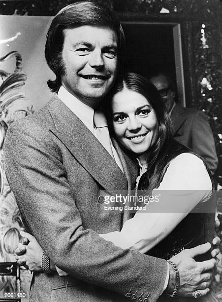 American actor Robert Wagner with his actress wife Natalie Wood at the time of their second marriage Original Publication People Disc HM0378