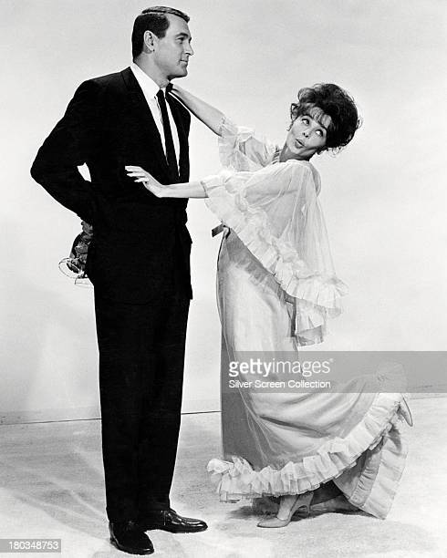 American actor Rock Hudson and French actress Leslie Caron in a promotional portrait for 'A Very Special Favor' directed by Michael Gordon 1965