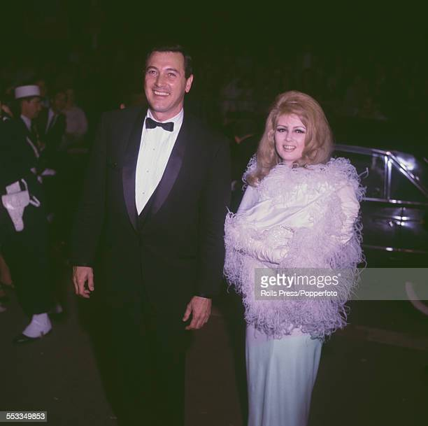 American actor Rock Hudson pictured with actress Pamela Tiffin at the Cannes Film Festival in France in May 1965