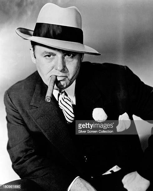 American actor Rod Steiger , as gangster Al Capone in a promotional portrait for 'Al Capone', directed by Richard Wilson, 1959.