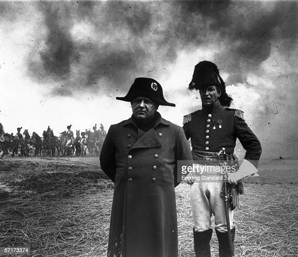 American actor Rod Steiger on the set of the film 'Waterloo' in which he plays French general Napoleon Bonaparte 1970