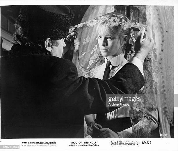 American actor Rod Steiger with English actress Julie Christie in a scene from 'Doctor Shivago'directed by David Lean 1965