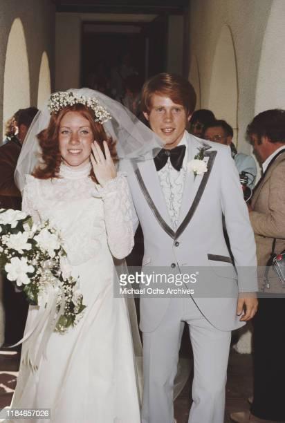 American actor Ron Howard marries Cheryl Alley at the Magnolia Park United Methodist Church in Burbank California 7th June 1975