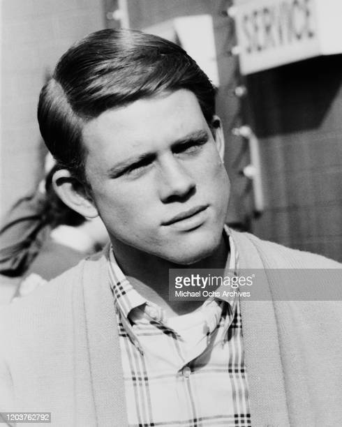 American actor Ron Howard on the set of the television sitcom 'Happy Days', USA, circa 1975.