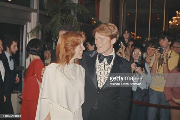 American actor Ron Howard with his partner Cheryl circa 1975 They were married in June 1975