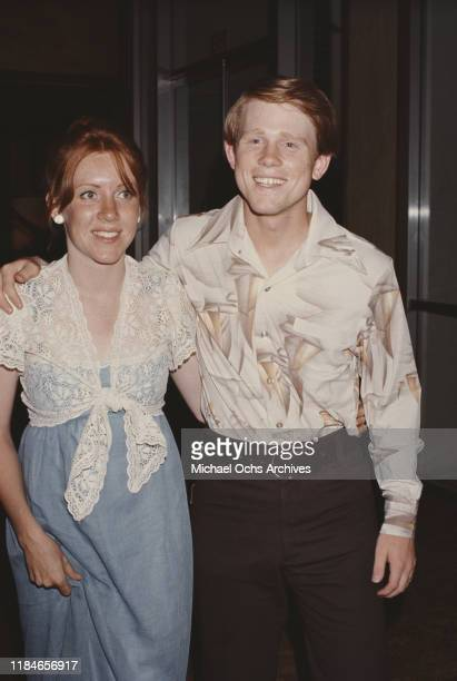 American actor Ron Howard with his wife Cheryl circa 1980