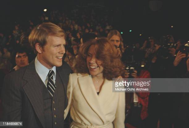 American actor Ron Howard with his wife Cheryl circa 1985