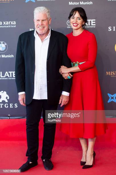 American actor Ron Perlman and spanish actress Marta Milans at the premiere film of Asher during the 51 edition of Festival Internacional de Cinema...
