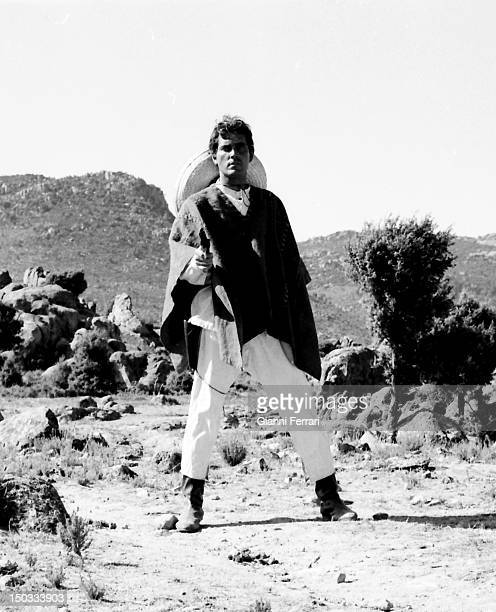American actor Ron Randall during the filming of the movie 'Wild Pampa' Almeria Spain