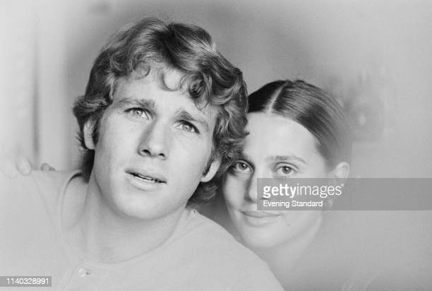 American actor Ryan O'Neal and American actress Leigh TaylorYoung UK 30th August 1969