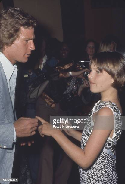 American actor Ryan O'Neal and his daughter actress Tatum O'Neal are photographed by paparazzi at a Studio One party in honor of the release of the...