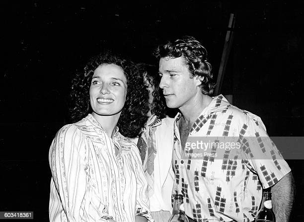 American actor Ryan O'Neal and Margaret Trudeau at Studio 54 in New York City
