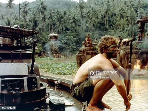 American actor Sam Bottoms on the set of the film Apocalypse Now directed by Francis Ford Coppola and based on Joseph Conrad's novel Heart of Darkness