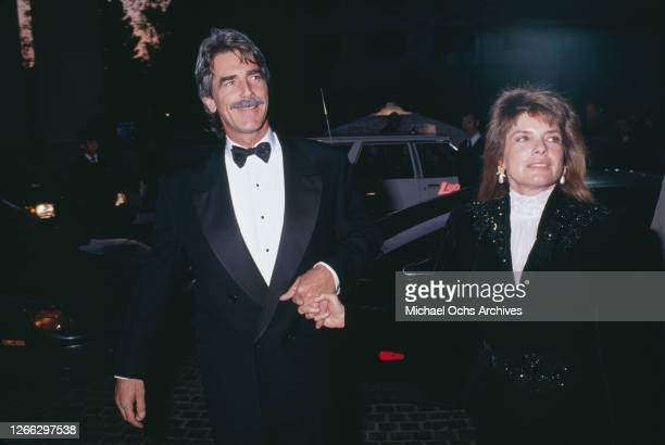 American actor Sam Elliott and his wife, actress Katharine Ross at the 47th Annual Golden Globe Awards in Beverly Hills, Los Angeles, California,...