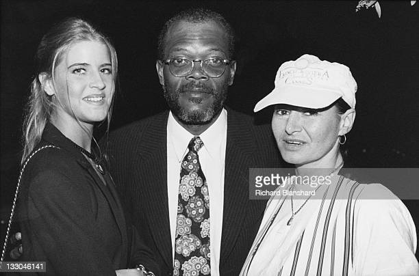 American actor Samuel L Jackson attends the Cannes Film Festival in France to promote his film 'Die Hard With a Vengeance' May 1995