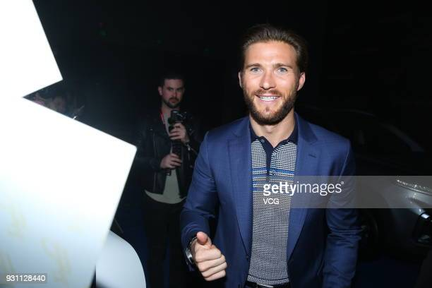 American actor Scott Eastwood attends the premiere of film 'Pacific Rim Uprising' on March 12 2018 in Beijing China