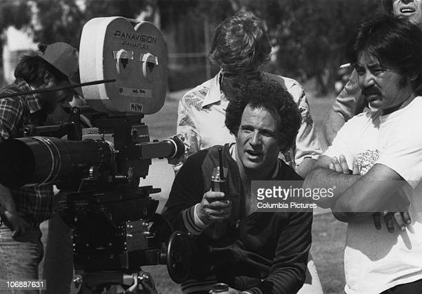 American actor screenwriter and director Albert Brooks during a location shoot for his film 'Modern Romance' 1981
