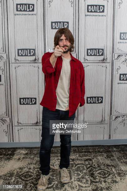 American actor screenwriter director and musician Robert Schwartzman talks about his movie The Unicorn at Build Studio on February 07 2019 in New...