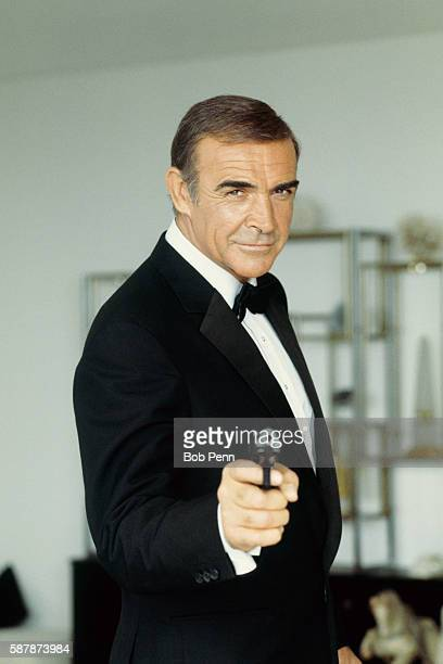 American actor Sean Connery on set of the movie James Bond: Never Say Never Again, directed by Irvin Kershner.