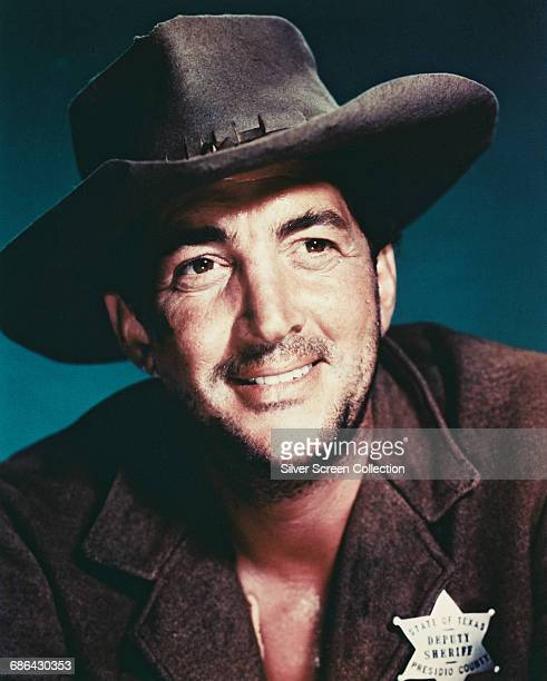 American actor singer and comedian Dean Martin as Dude the Deputy Sheriff in the film 'Rio Bravo' 1959