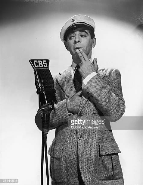 American actor singer and comedian Eddie Cantor on CBS circa 1935