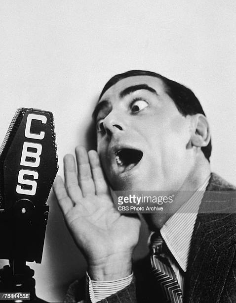 American actor singer and comedian Eddie Cantor performs in the CBS radio series 'Fire Chief' 29th August 1936