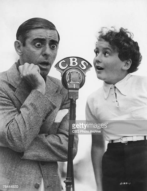 American actor singer and comedian Eddie Cantor with child actor Bobby Breen on CBS 28th March 1936