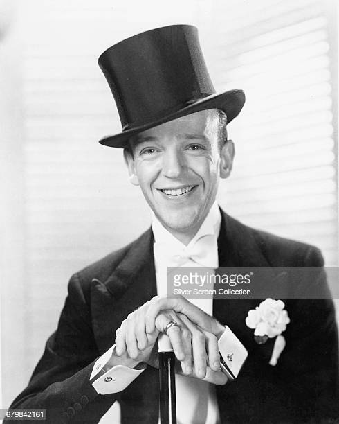 American actor singer and dancer Fred Astaire as Jerry Travers in the musical comedy film 'Top Hat' 1935