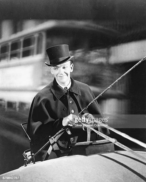 American actor, singer and dancer Fred Astaire as Jerry Travers in the musical comedy film 'Top Hat', 1935.