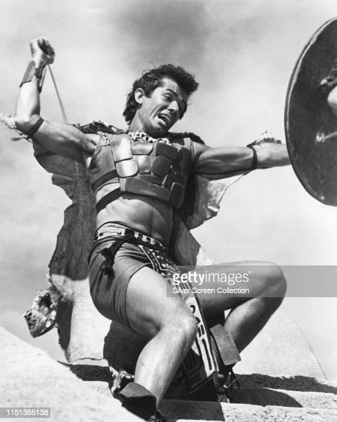 American actor, singer and dancer George Chakiris as Balam in the film 'Kings of the Sun', 1963.