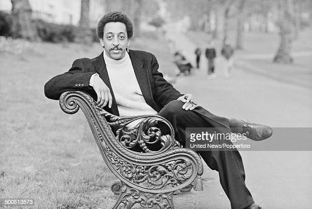 American actor singer and dancer Gregory Hines posed in London on 2nd May1985