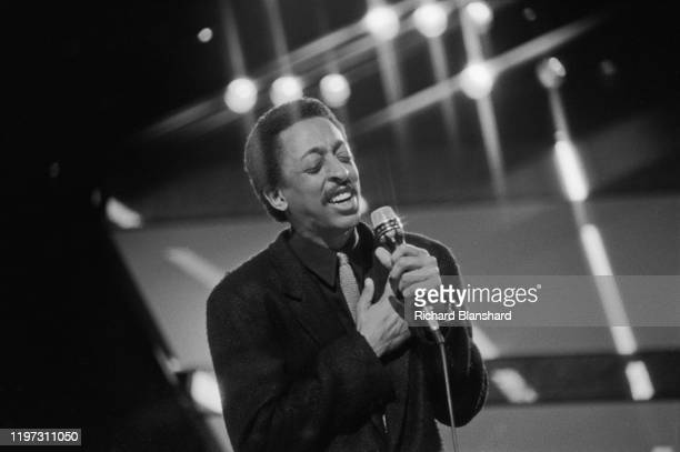 American actor, singer and dancer Gregory Hines performing, circa 1995.
