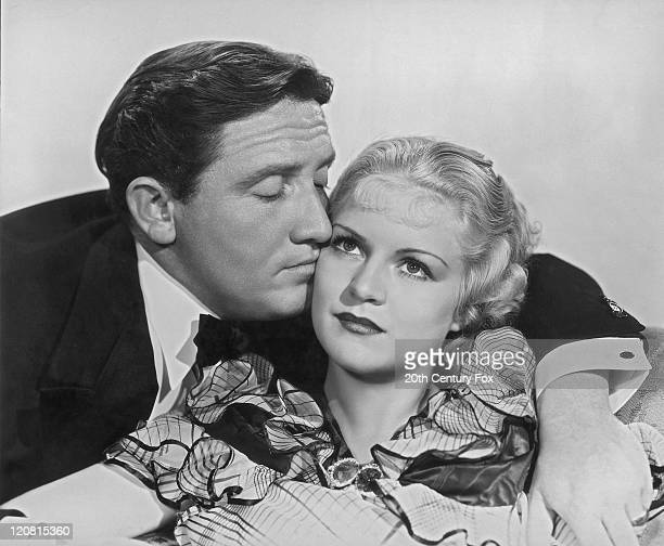 American actor Spencer Tracy and Claire Trevor as they appear in 'The Mad Game' directed by Irving Cummings 1933