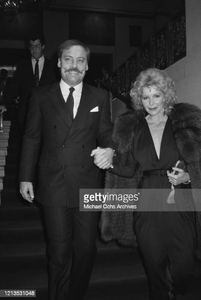 American actor Stacy Keach with his wife Jill Donahue circa 1985