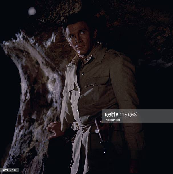 American actor Steve Forrest pictured in a scene from the television series 'The Baron' in 1967