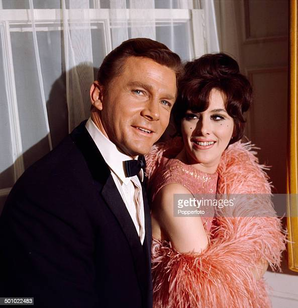 American actor Steve Forrest posed with English actress Sue Lloyd in 1966