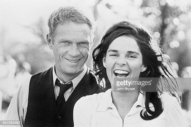 American actor Steve McQueen and his wife, actress Ali MacGraw.
