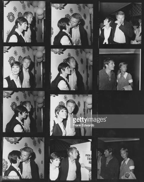 American actor Steve McQueen and his wife actress Neile Adams attend a SHARE charity party 25th May 1968 Also pictured are actress Carol Lynley and...