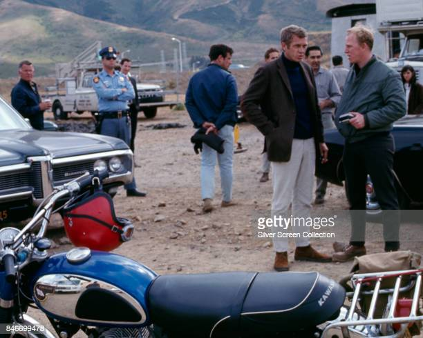 American actor Steve McQueen as Frank Bullit on the set of the American crime thriller movie 'Bullitt' 1968
