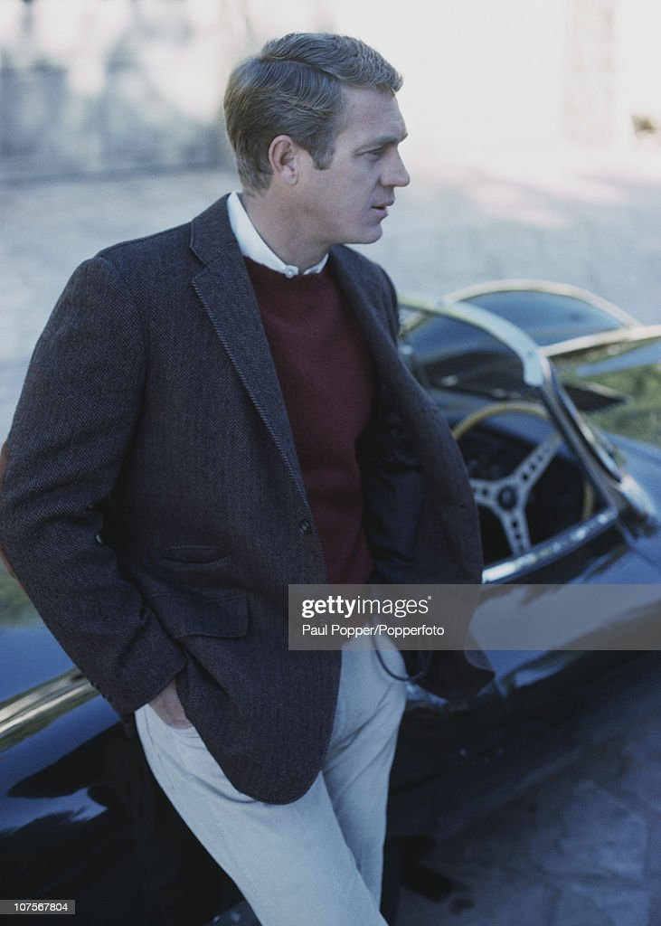 McQueen With Jaguar : News Photo