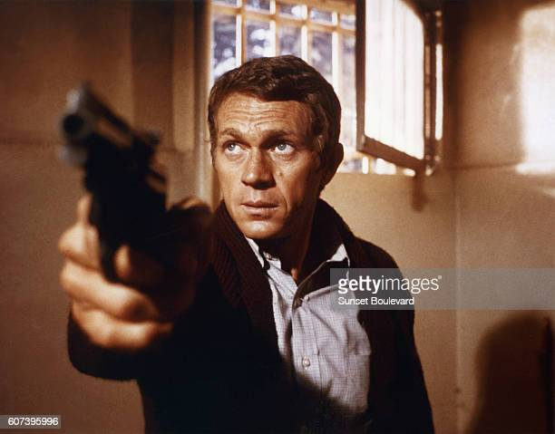 American actor Steve McQueen on the set of Bullitt directed by Peter Yates