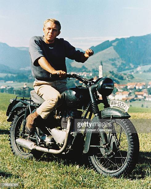 American actor Steve McQueen stars as Captain Virgil 'The Cooler King' Hilts in World War II drama 'The Great Escape' 1963